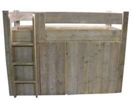 Halfhoogslaper / Kastruimte steigerhout (HHMK)