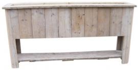 Plantenbak Bloembak 200x100x35cm met schap gebruikt steigerhout