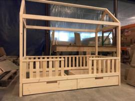 Peuter bedhuisje CABIN XL, 70 x 160 cm