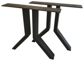Stalen tafel onderstel model J koker 10x5cm (STRIP)