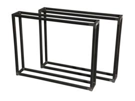 Stalen tafel onderstel model dubbel buisframe koker 2,5x2,5cm