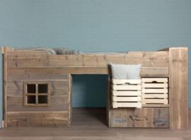 Bed steigerhout Toms Hut