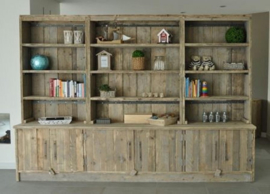 Montage voor boekenkast van 120 of 300cm