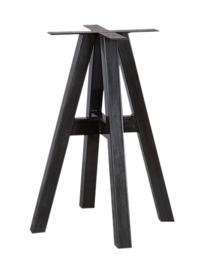 Stalen tafel onderstel 71cm hoog (4 poot)