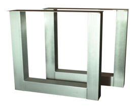 Tafel RVS look onderstel U model koker 10x10cm (STRIP)