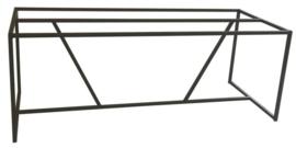Stalen tafel onderstel buisframe koker 2x2cm met schuine schoren L135cmxB90cmxH71cm  (voorraad magazijn artikel)