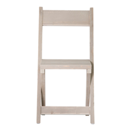 Kruispoot stoel steigerhout kleur Zand