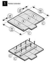Doe-Het-Zelf bouwpakket  Paasei afm: H71xB50cm van oud of nieuw steigerhout