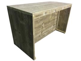 Bartafel gemaakt van steigerhout Beton Grijs afm: L150xB74xH95cm( voorraad magazijn artikel)