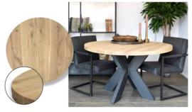 Eiken tafelbladen - Old style rond recht
