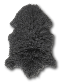 Tibetan Curl Sheepskin Dark Grey