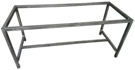 Stalen tafel onderstel buisframe koker 4x4cm L200cmxB40cmxH107cm  (voorraad magazijn artikel)
