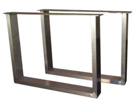 Aluminium tafel onderstel model Chantal koker 10x4cm (STRIP)