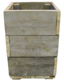 Bloembak / plantenbak oud steigerhout 40x40x65cm