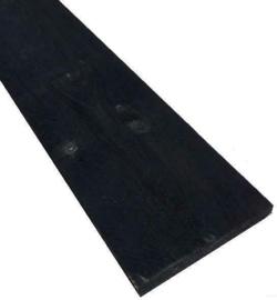 Steigerplank Zwart B kwaliteit 3cm dik prijs per meter