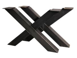 Stalen tafel onderstel model kruis X koker 12x12cm
