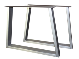 Tafel RVS look onderstel Taps model koker 10x4cm (STRIP)