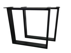 Stalen tafel onderstel model Chantal koker 10x3cm B60cm x H71cm (voorraad magazijn artikel)
