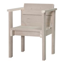 Diner stoel open steigerhout kleur zand
