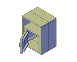 Doe-Het-Zelf bouwpakket nachtkastje met deurtje van steigerhout