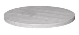 Tafelblad steigerhout Ronda kleur schelpwit diameter 160 (voorraad magazijn artikel)