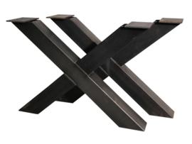 Stalen tafel onderstel model kruis X koker 10x10cm B100xH71cm (voorraad magazijn artikel)