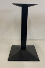 Horeca tafelonderstel vierkant zwart model Gastro enkel  (voorraad magazijn artikel)