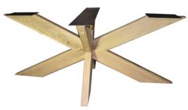 Eiken tafel onderstel model dubbele X (Kort)