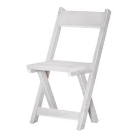 Kruispoot stoel steigerhout kleur Schelpwit