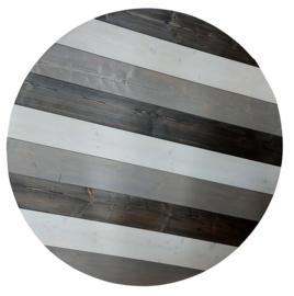 Tafelblad steigerhout Rond 3 kleuren diameter 170cm (voorraad magazijn artikel)
