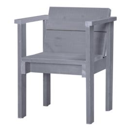Steigerhouten diningset kasteeltafel beton grijs