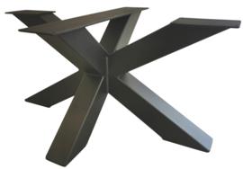 Stalen salontafel dubbele X koker 8x8cm