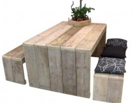 Tafel van steigerhout met dichte zijkanten Model Karwei
