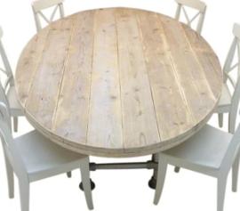 Assortiment Ovale steigerhouten tafels