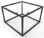 Bijzet tafel onderstel vierkant 2x2cm Knockdown afmeting 50x50cm
