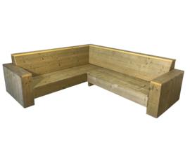 Lounge hoekbank oud steigerhout (COMBI)
