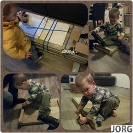 Doe-Het-Zelf bouwpakket Kinderkeuken steigerhout met houten kraan