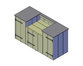 Doe-Het-Zelf bouwpakket steigerhout Buitenkeuken Type C