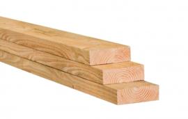 Balk vuren C kwaliteit ruw 50x200x4800mm Fijnbezaagd (prijs per balk)