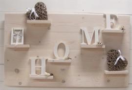 Wanddecoratiebord steigerhout whitewash L100xH60cm ( voorraad)