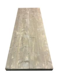 Oud of nieuw steigerhouten tafelblad recht