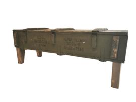 Bijzet/salontafel  legerkist groot