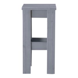 Barkruk steigerhout beton grijs