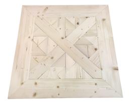 Salontafel nieuw steigerhout mozaïek met stalen buisframe