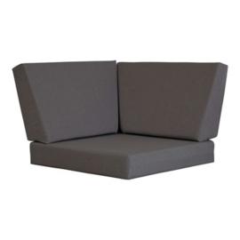 Hoekbank steigerhout massief kleur beton grijs