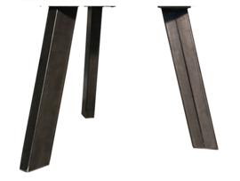 """Stalen tafel onderstel model """"1 poot"""" schuine koker 12cm"""