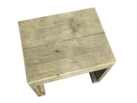 Kruk van steigerhout met dichte zijkanten Model Karwei