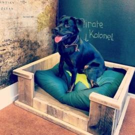 Hondenmand van steigerhout klein/middel/groot