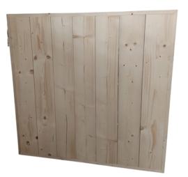 Tafelblad vierkant 140x140cm nieuw  steigerhout met de rand eromheen ( voorraad magazijn artikel)