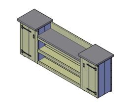 Doe-Het-Zelf bouwpakket steigerhout Buitenkeuken Type B